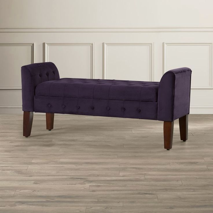 Brimming With Elegant Style This Chic Tufted Storage Ottoman Stows Your F Entryway Bench Storage Tufted Storage Bench Storage Bench