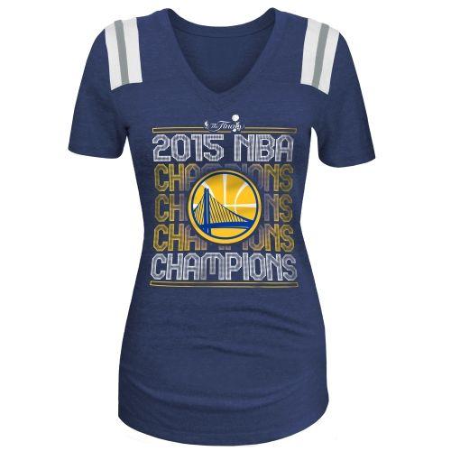 Ocean by New Era Golden State Warriors Womens Royal 2015 NBA Finals  Champions Tri-Blend Jersey T-Shirt
