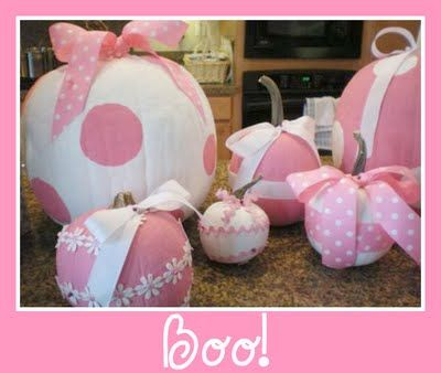 My kind of pumpkins! Celebrating Fall and Breast Cancer Awareness month! Besides who doesn't love pink!