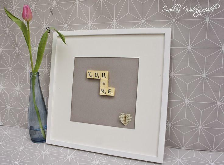 DIY: sweet and easy gift...not only for valentines day! Anleitung für ein schnelles Bild für den/die Liebsten