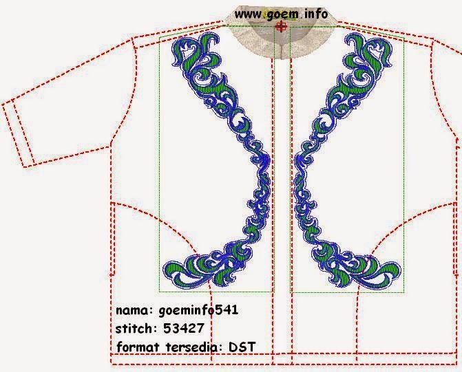 desain baju koko baju muslim bordir