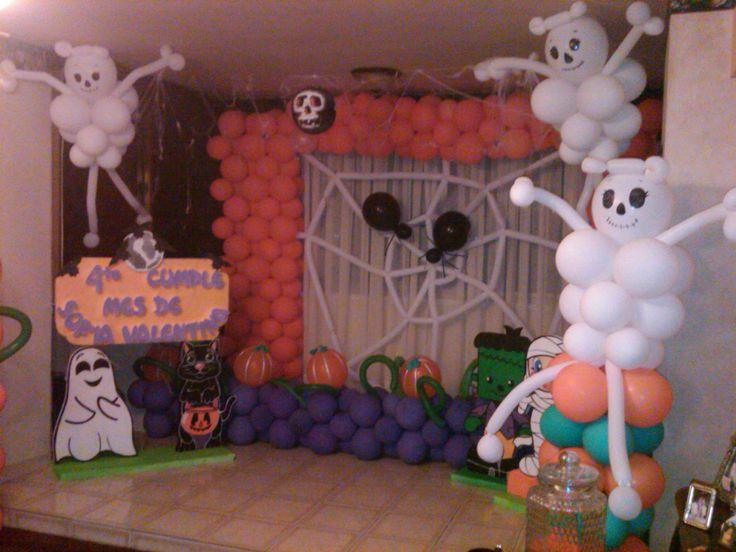 Decoracion completa de halloween baby por amaru funes mis decoraciones de fiesta infantil - Decoracion halloween infantil ...