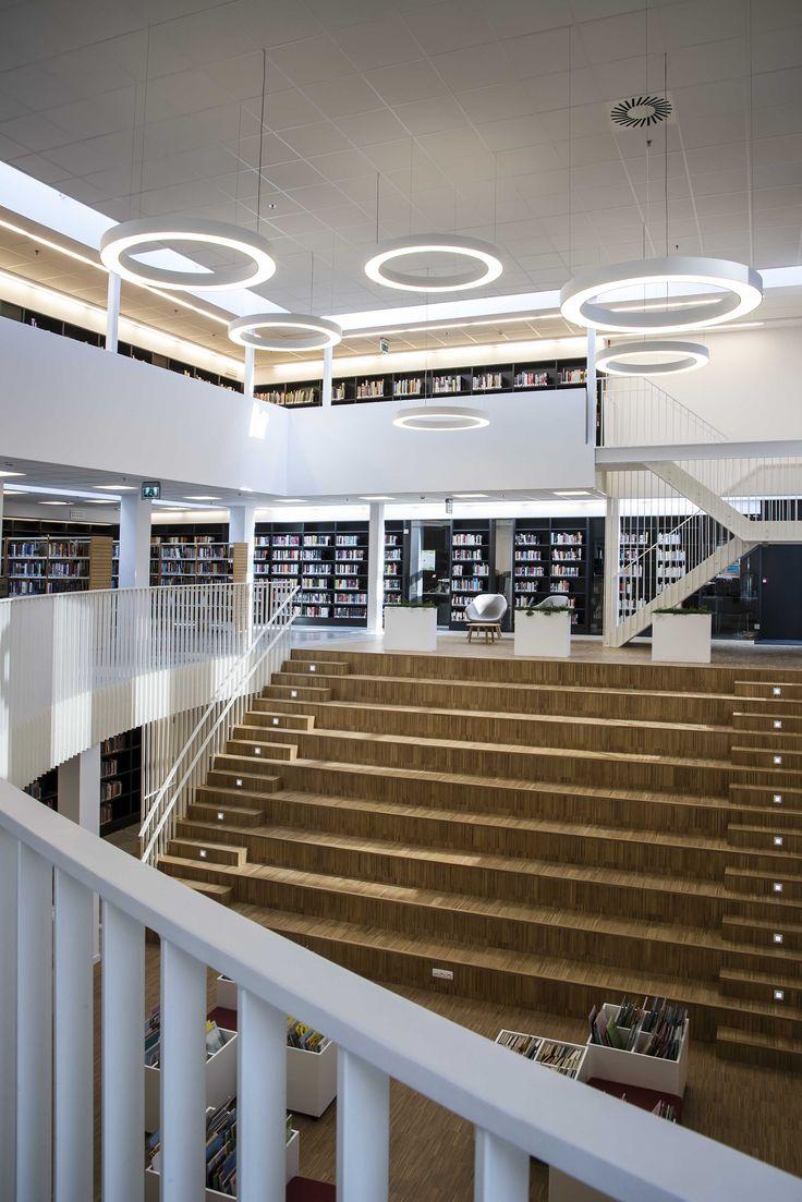 Prolicht GLORIOUS #<b>LED</b> DARK #project Bibliotheek <b>De</b> Pinte BE ...