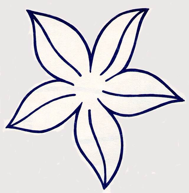 Resultado de imagen para flor de cinco petalos para colorear