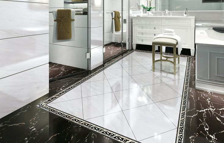A Regal Bathroom Polished With Volkas Glazed Porcelain Tiles In White Type Of Tile Glazed