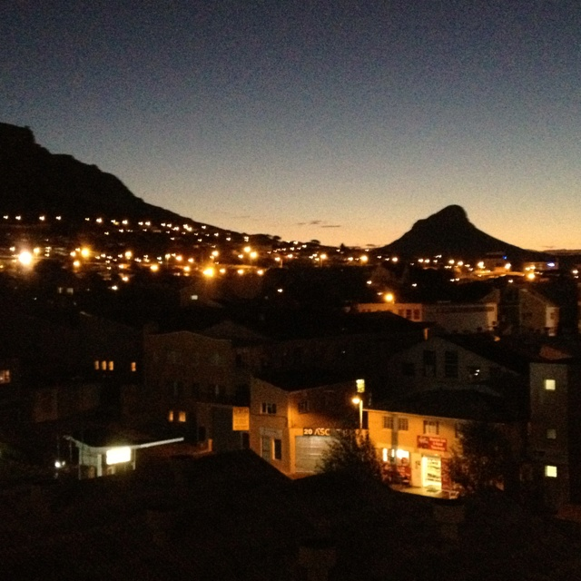 Night view in Cape Town