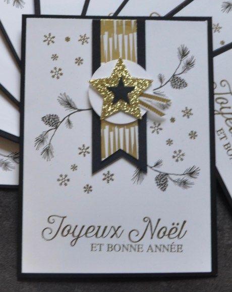 Carte de voeux de Noël et bonne année par Marie Meyer Stampin up - http://ateliers-scrapbooking.fr/