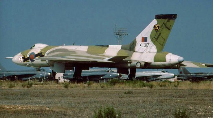 Avro Vulcan Royal Air Force conventional/nuclear bomber.