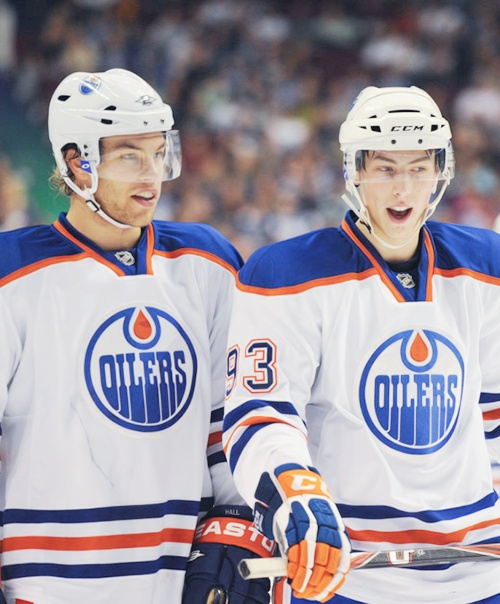 Taylor Hall and Ryan Nugent-Hopkins