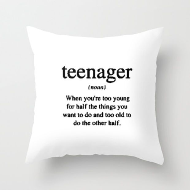 teen throw pillow More - Rooms Inn The House