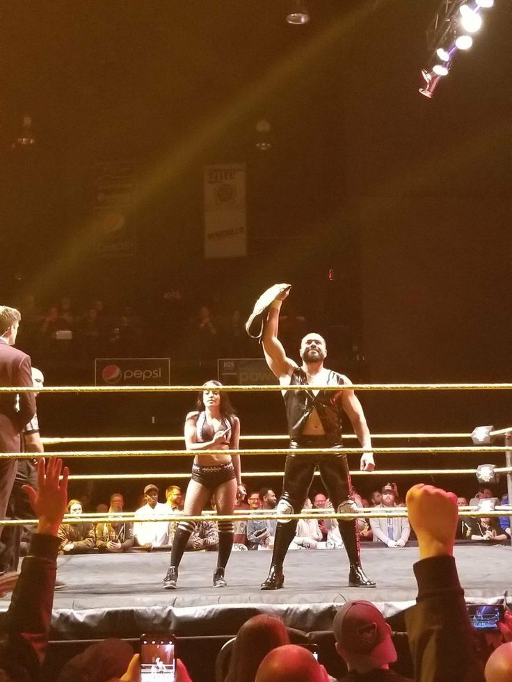 Zelina Vega and NXT Champion Andrade Almas NXT Live Event