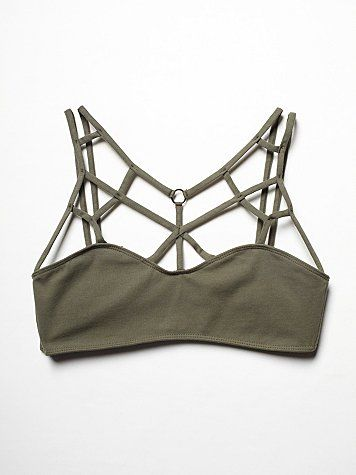 Free People Strappy Front Bra