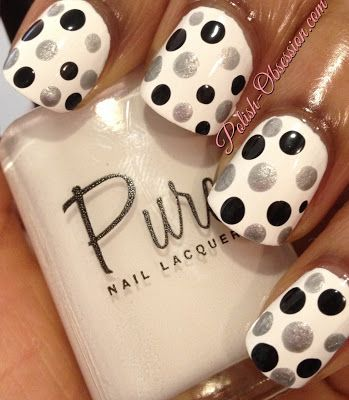 Polka dots with Pure Nail Lacquer