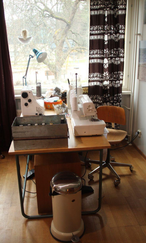 Three machines: Bernina 1130 sewing machine, Husqvarna Viking Huskylock 910 serger /overlock machine and Janome CovePro 1000CPX cover stitch machine <3
