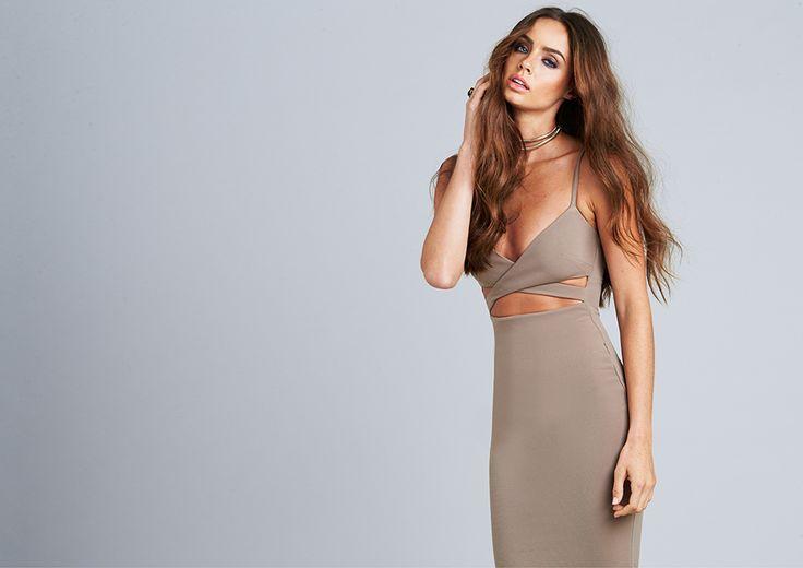 Shop now - http://www.nookie.com.au/shop/products/heidi-bodycon-dress/mocha