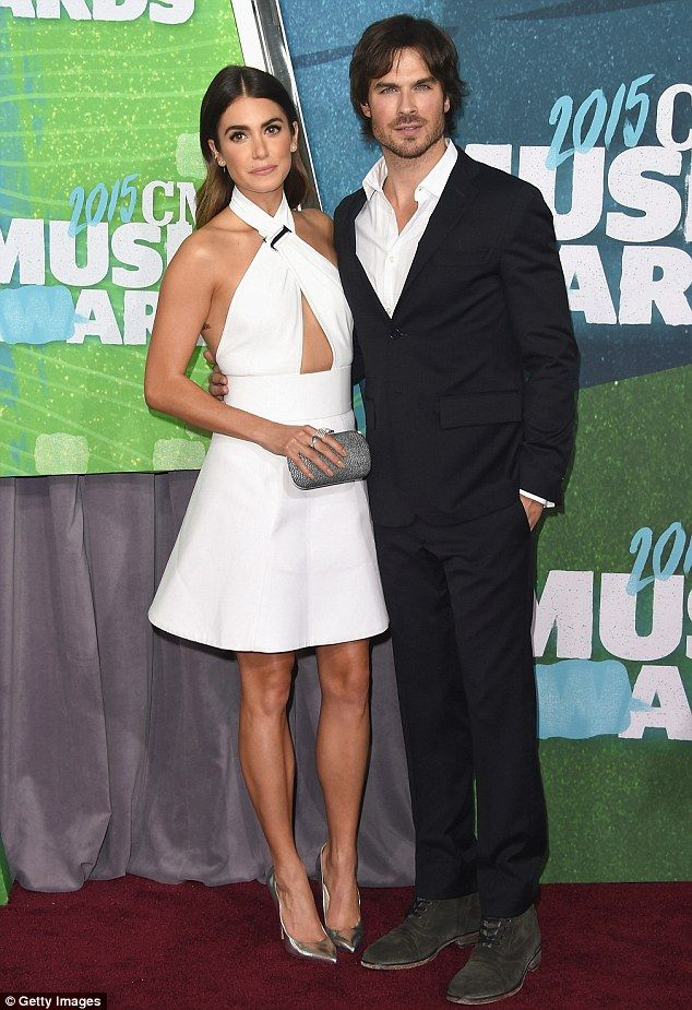 Country music fan: Nikki Reed attended the 2015 CMT Music Awards on Wednesday with her new...