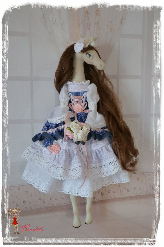 Melanie. 21  Interior textil  doll-horse. wall art. от Elenadolls