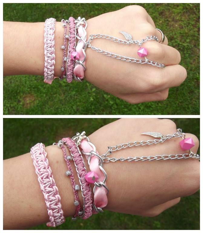 Pretty rose bracelets