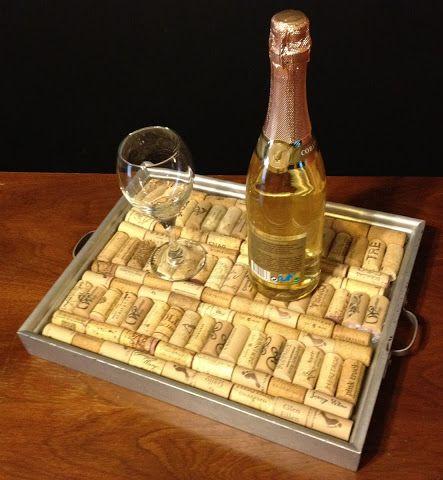 DIY framed cork tray