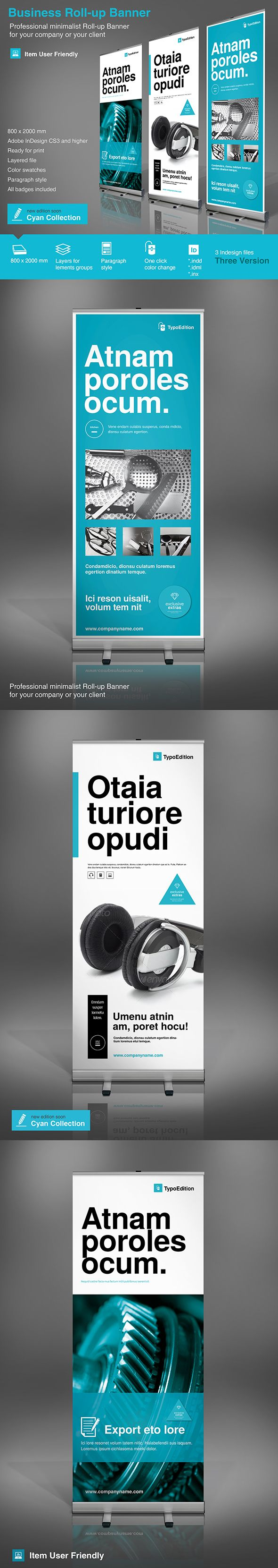Corporate Banner. Modern and clean design for banner/rollup. Perfect for PR agency or other business promotion. All elements are editable.FeaturesAdobe InDesign CS4 and higher)800×2000 mm (31.5×78.74 inches) + bleeds 25 mmReady for print (200 DPI CM…