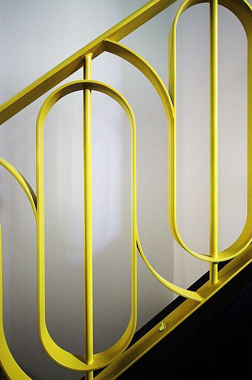 Great modern / pop art / deco stair rail