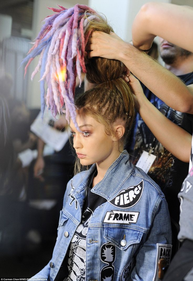 The process: Yahoo Beauty revealed the artist behind the rainbow wigs is…