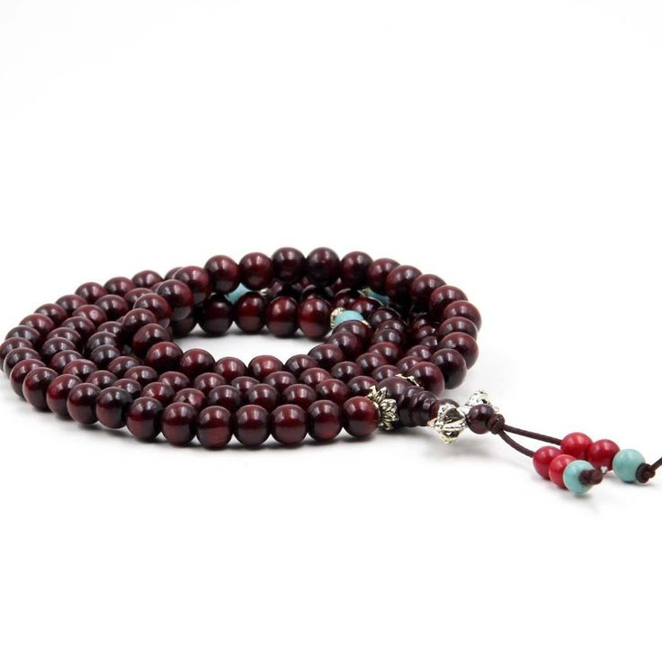 Red Wood Meditation Beads