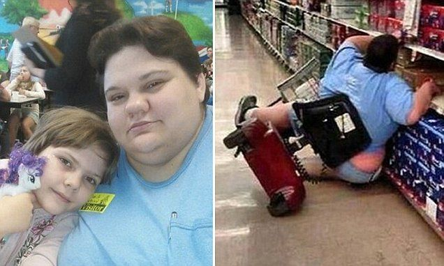 US woman Jennifer Knapp Wilkinson has revealed the truth behind an image that captured her falling off a motorised scooter in Walmart, saying she has a disability which makes it difficult to walk