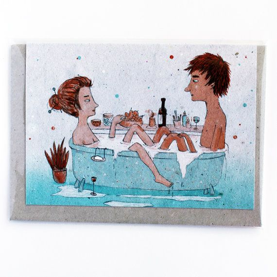 Hey, I found this really awesome Etsy listing at https://www.etsy.com/listing/166074939/greeting-card-bath-couple