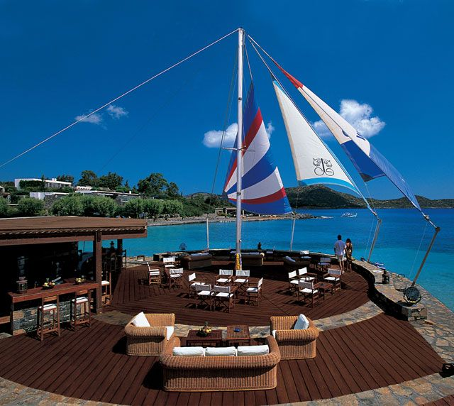 #Lounges : #Sail-in bar at #EloundaBayPalace #lounges #elounda, #bar #crete