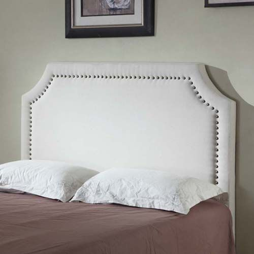 Julia Queen Headboard with Metal Studded Buttons