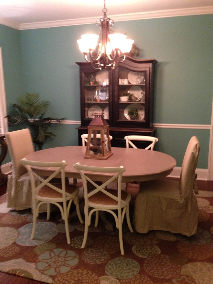 Leslie S Dining Room After Painting Table From