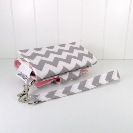 The Errand Runner - Cell Phone Wallet - Wristlet - for iPhone/Android - Chevron