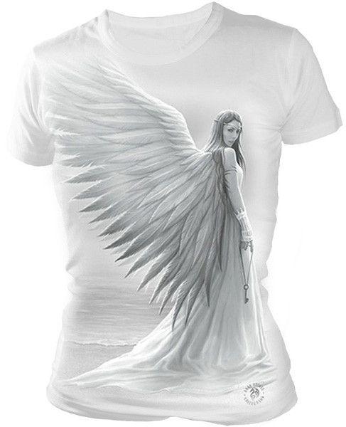 Camiseta Spirit Guide #anne #stokes #spiral #direct #angel #gotico #goth #xtremonline