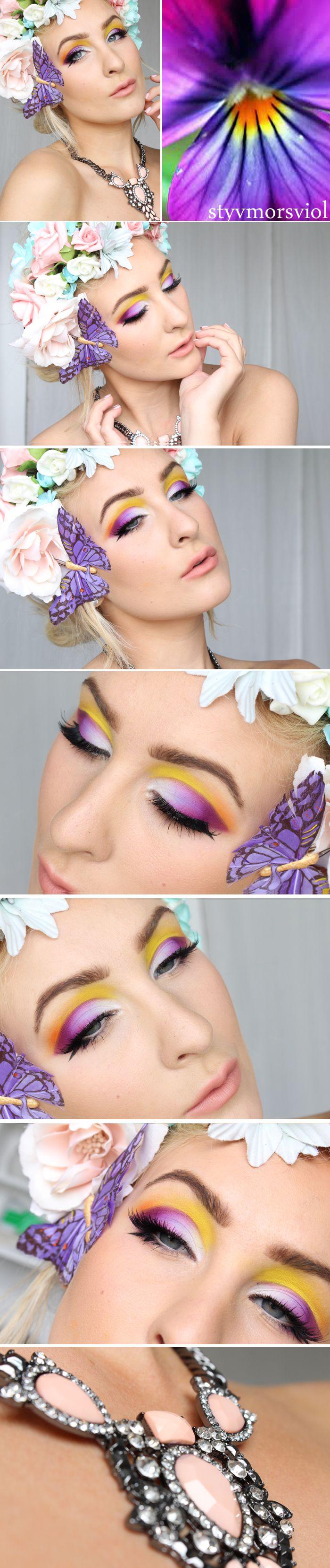 Dagens makeup – Styvmorsviol |