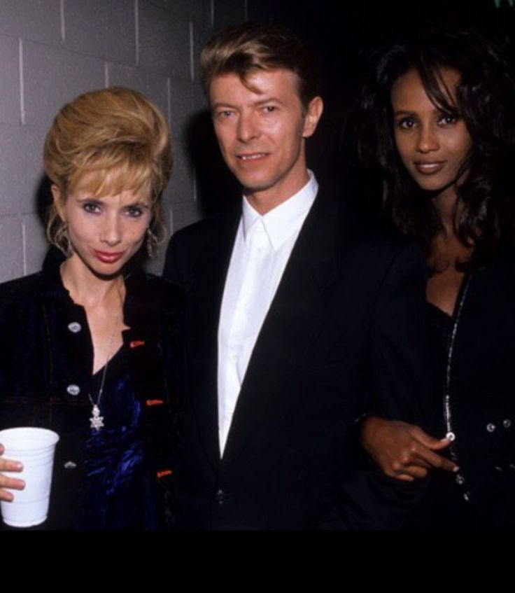 David Bowie, Iman and actor Rosanna Marquette.