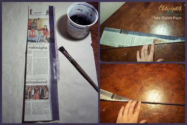 Újságpapírból font koszorúalap | Így készült lépésről-lépésre | Életszépítők