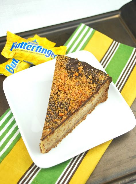 Butterfinger Cheesecake: Butterfinger Cheesecake, Cheesecake Collection, Leftover Candy, Chocolates Covers, Butterf Cheesecake, Cakes Cupcake Cookies Desserts, Covers Cheesecake, Covers Butterf, Food Drinks