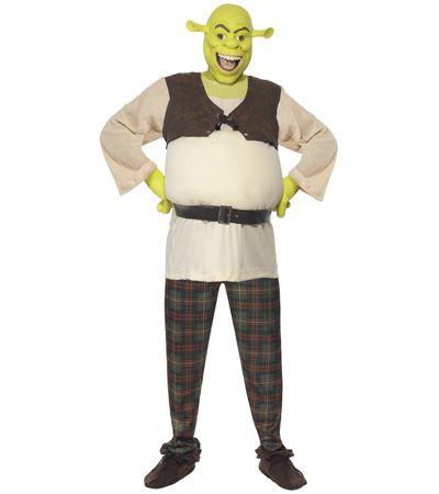 Shrek kostuum voor heren. Mooi kostuum van Schrek uit de bekende film! Het Schrek kostuum bestaat uit de broek, de bovenkant, de handschoenen en het Schrek masker. Carnavalskleding 2015 #carnaval