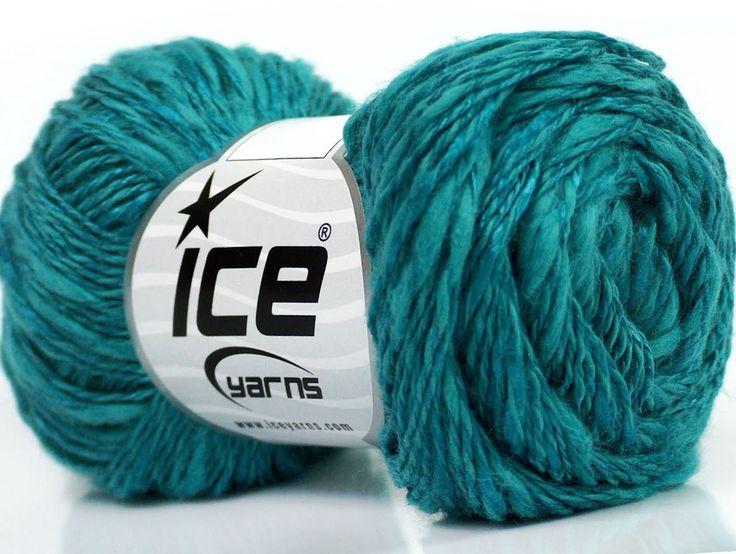Limited Edition Spring-Summer Yarns Viskon Yazlık  Pamuk Flamme Natural Yarn Fine Weight Turkuaz  İçerik 60% Pamuk 40% Viskon Turquoise Brand ICE fnt2-41867