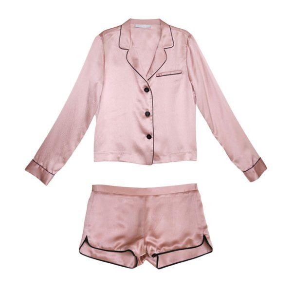 The right way to do sleepwear. Fleur Du Mal PJ Set, $523
