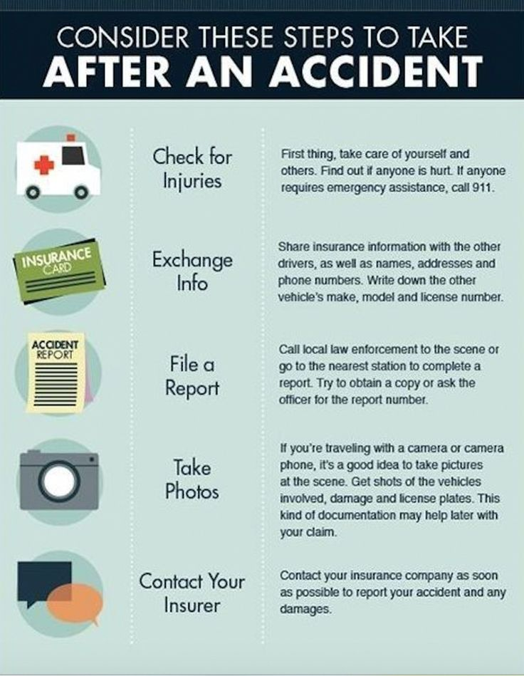 In the case of an accident remember these 5 easy steps
