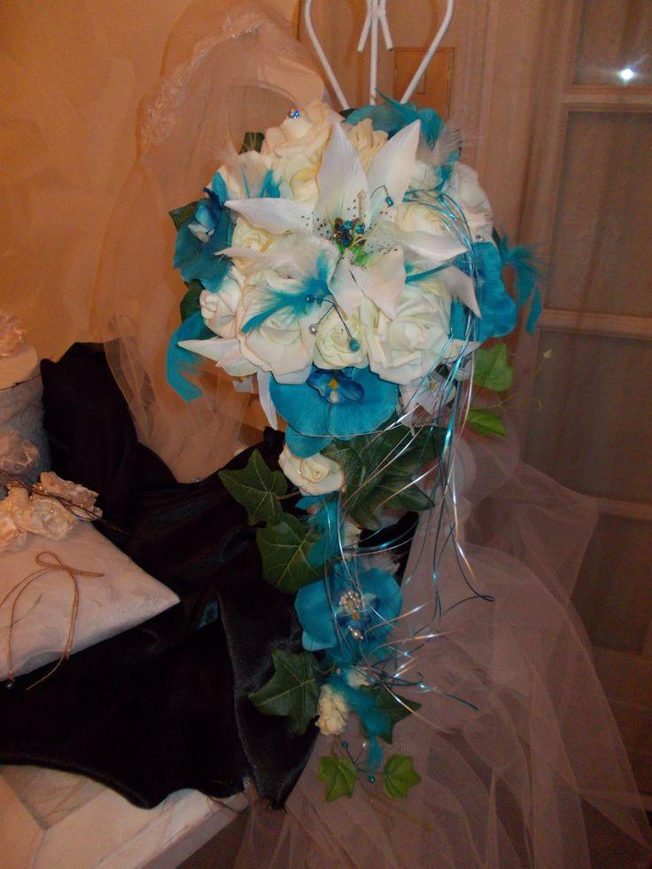 Les 25 meilleures id es de la cat gorie bouquets de mariage turquoise sur pinterest fleurs de - Bouquet mariee bleu ...