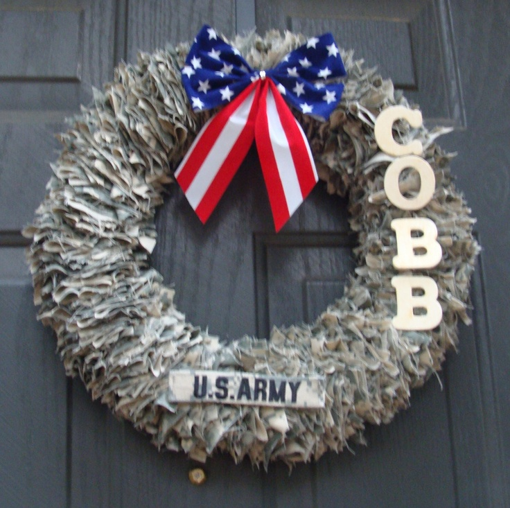 Decorative wreaths door decoration home decor military for 3 wreath door decoration