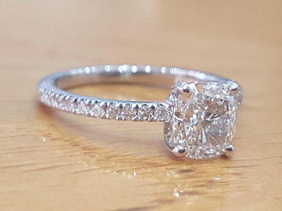 1 1 3 Carat Diamond Engagement Ring Cushion Diamond Ring Etsy Classic Engagement Rings Cushion Diamond Ring Diamond Engagement