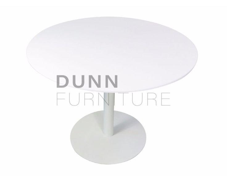 Tempo Round Meeting Table White – Dunn Furniture