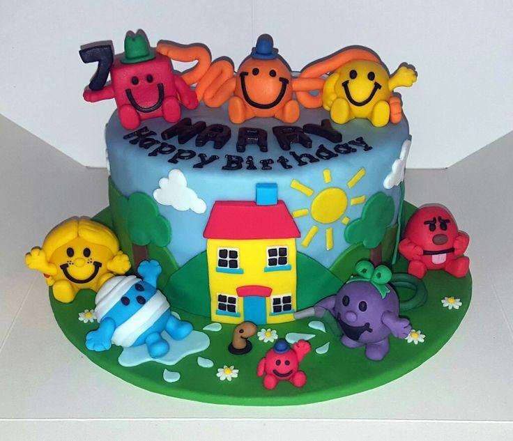 Mr Men 7th birthday cake