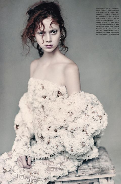 Natalie Westling by Paolo Roversi for Vogue Italia March 2016 Chanel Couture…