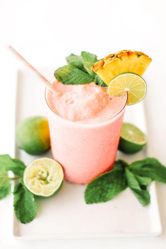 Watermelon Papaya Rum Smoothie