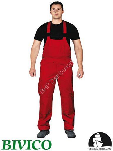 promocja! Czerwone spodnie ochronne ogrodniczki LH-BISTER